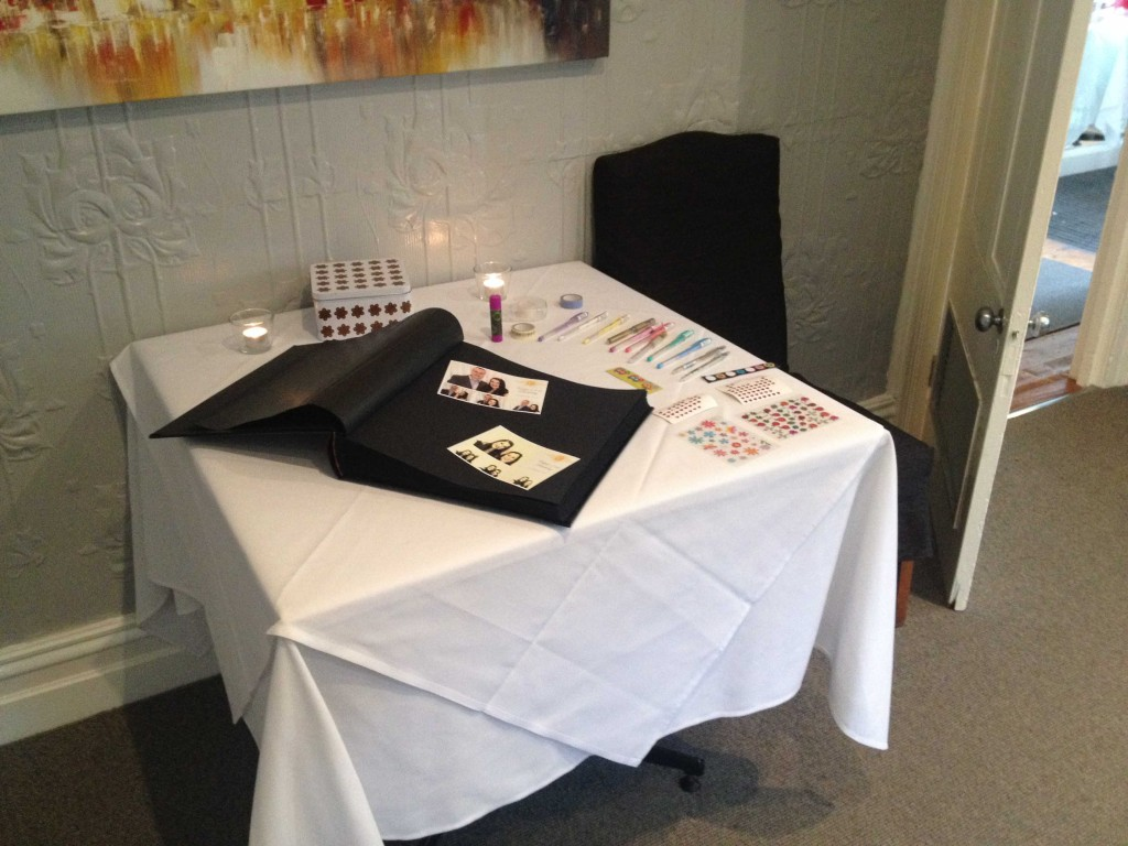 Guest Book with Craftbox - For your guests to leave messages photo's and memories!