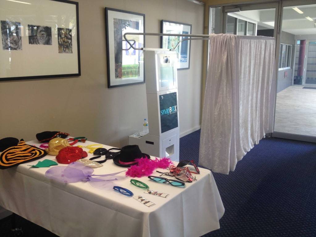Booth setup at an event - December 2014