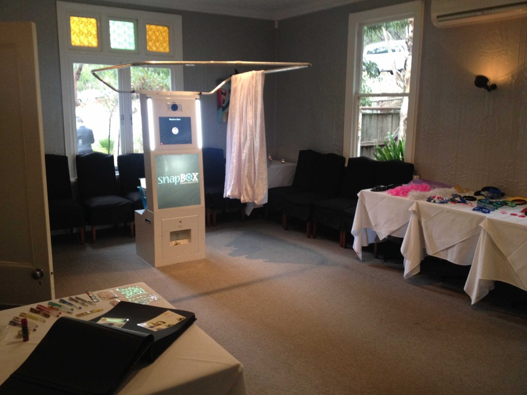 Photobooth Setup and ready to party!