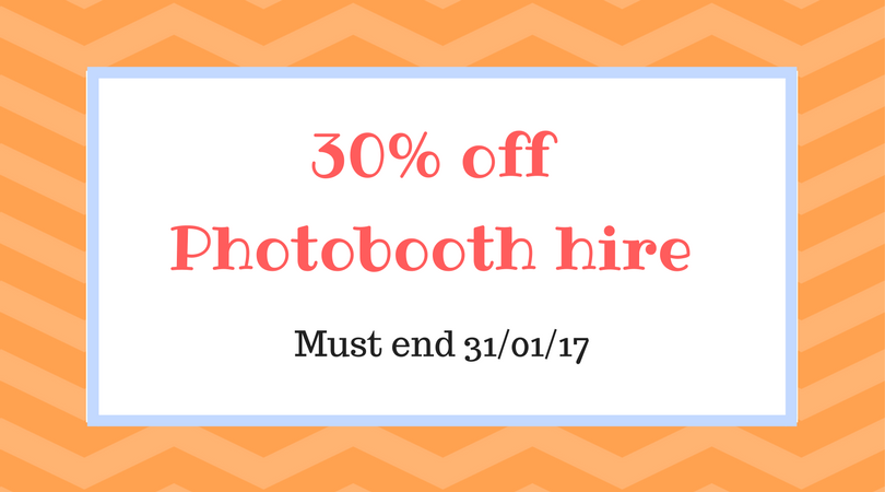 30% off Photobooth hire